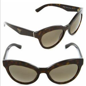 Prada Triangle Sunglasses Havana Brown